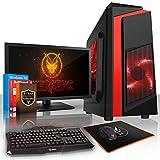 Fierce MANTA Gaming PC Bundeln - Schnell 4 x 3.8GHz Quad-Core AMD Athlon X4 840, 1TB Festplatte, 16GB von 1600MHz DDR3 RAM / Speicher, NVIDIA GeForce GTX 1050 2GB, Gigabyte F2A68HM-HD2 Hauptplatine, CiT F3 Schwarz Computergehäuse/Rot Fans, HDMI, USB3, Wi - Fi, Perfekter Einstieg in PC-Spiele, Windows 10 installiert, Tastatur (VK/QWERTY), Maus, 21.5-Zoll-Monitor, 3 Jahre Garantie 962031