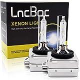 LncBoc HID Allo Xeno 35W D1S Bianco Lampada di Ricambio 6000K per 12V Auto Veicolo 2Pcs
