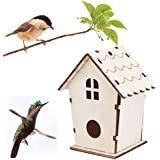 Iuhan Wooden Bird House Nest DOX Nest House Bird House Bird House Bird Box Bird Box Wooden Box Medium C 11x9cm