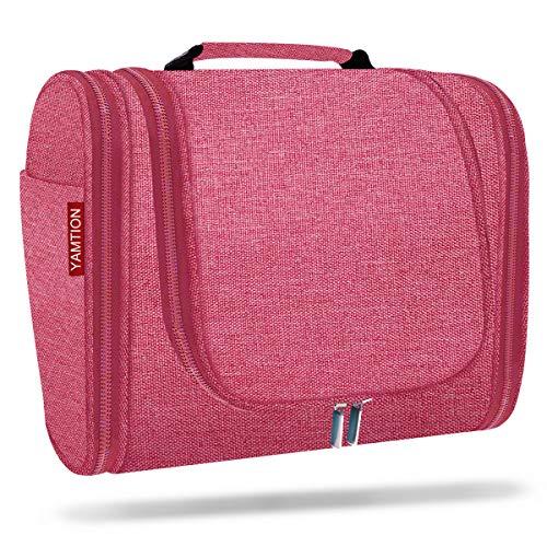 YAMTION Kulturtasche,Atmungsaktiv Kulturbeutel Damen mit 8 Liter Stauraum Kulturtasche zum Aufhängen Kosmetiktasche mit Tragegriff für Männer und Frauen Reise Toilettentasche