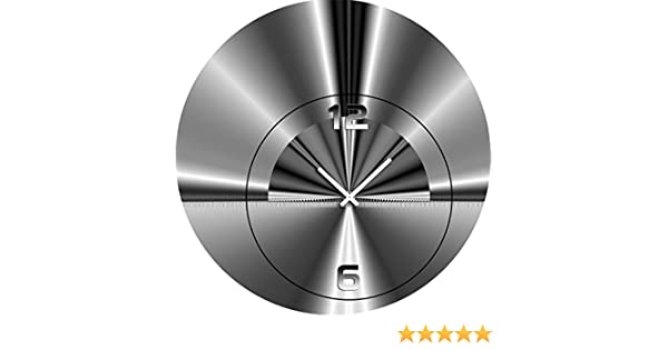 70cm WanduhrWanduhrenModerne Dixtime Durchmesser 5070 Wohnraumuhr Designer 6v7Ybygf
