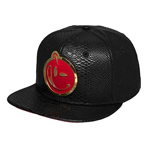 yums-men-caps-snapback-cap-new-era-metal-face-black-adjustable