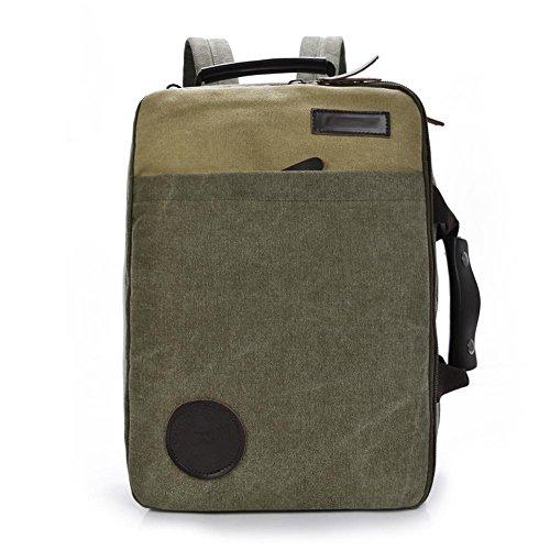 SZH&BEIB Unisexsegeltuch-Rucksack beiläufige Art und Weise im Freien Travel Gear Schule oder Arbeit Laptop-Tasche E