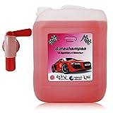 10 Liter Professional Premium Autoshampoo Konzentrat mit Abfüllhahn, Abperleffekt & Aktivschaum