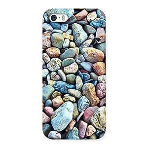 Impressive Pebbles Multicolor Back Case Cover for iPhone SE