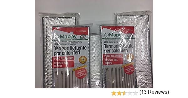 Termoriflex Plt Goffrato Tondo.5 Pannelli Termoriflettenti Di Alta Qualita Per Caloriferi Termoflex Plt 100 X 70 Cm Con Biadesivo
