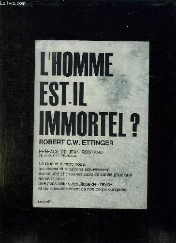 L'homme est-il immortel ? in-8° br.