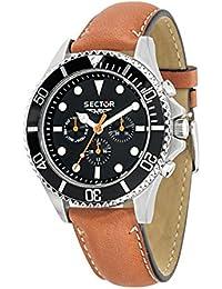 Sector Herren-Armbanduhr 235 Analog Quarz Leder R3251161012