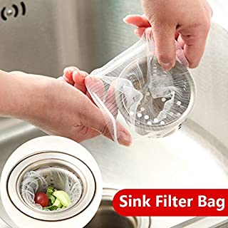 Aliciashouse 30pcs Sink Filter Bag Food Residue Garbege Filter Strainer Bag Net Kitchen Tool