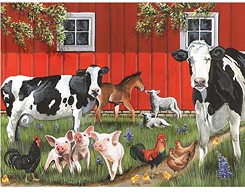 DIY5DDiamantMalerei Stickerei Red Barn Farm Diamant Malerei Kreuzstich Voller Platz Strass Mosaik Dekoration Geschenk