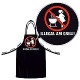 Barbecue divertente grembiule grembiule per grigliare, con nastro regolabile alla nuca BBQ grembiule