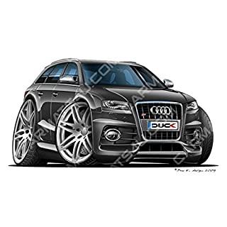 Audi S4 Avant - Vinyl Wall Art Sticker - Black