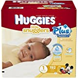 Huggies Little Snugglers Plus Size 1, 192 Pack