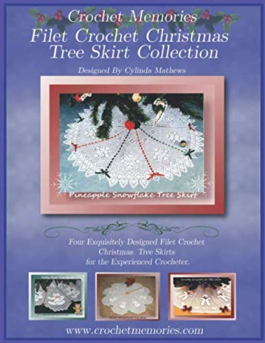 Filet Crochet Christmas Tree Skirt Collection -