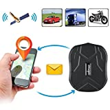Winnes GPS Tracker,150 Giorni Standby- SIM GSM GPS Tracciatore, Mini Localizzatore Antifurto satellitare Locator Per AUTO/Veicoli/MOTO con Magnete Potente e Batteria 10000mAh, APP Gratuita,TK905B