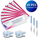 20 Test di Gravidanza, MOMMOOD Test Gravidanza Tests Gravidanza Ultrasensibili Precoce Urine (HCG) - 20 HCG Tests