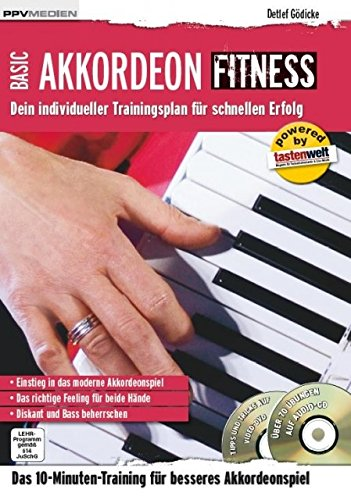 Basic Akkordeon Fitness - arrangiert für Akkordeon - mit CD und DVD [Noten / Sheetmusic] Komponist: GOEDICKE DETLEF