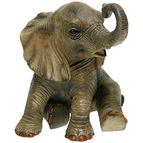 SC Gifts Beautiful Leonardo Fuera de África bebé Elefante Figura Adorno Caja