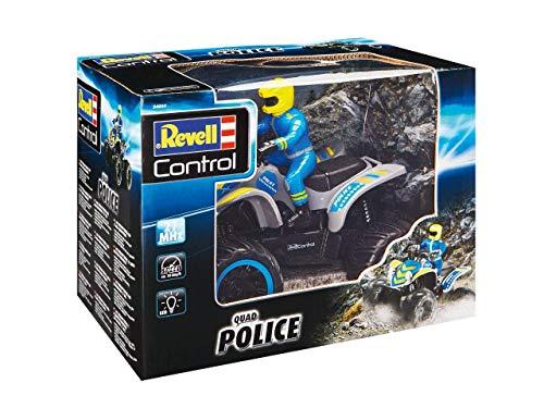 Revell Control 24644 RC Polizei-Quadbike mit 2-Kanal 27 MHz Fernsteuerung für Einsteiger Ferngesteuertes Quad, blau