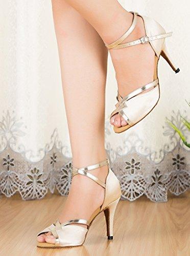 TDA , Bride de cheville femme 8.5cm Heel Beige