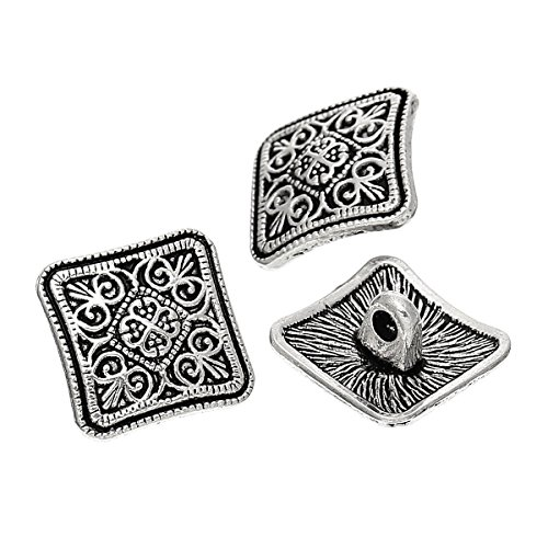 the-bead-and-button-box-10-metal-sewing-buttons-square-antique-silver-flower-pattern-carved-13mm-x-1