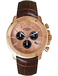 Rotary Men's Quartz Watch with Chronograph XL Time Pieces Leather GS02840/25