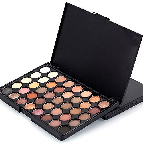 Sombras de Ojos, TOFAR 40 colores paleta de sombra de ojos Profesional eyeshadow palette Paleta de Maquillaje Cosmética con Color Cálido y Frío - #1