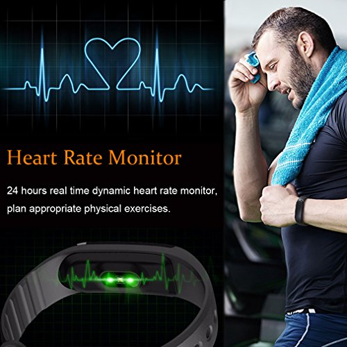 Activity-Tracker-FITEEN-Fitness-Tracker-Watch-with-Heart-Rate-MonitorSmart-Fitness-Band-Bluetooth-40-IP67-Waterproof-Pedometer-Wristband