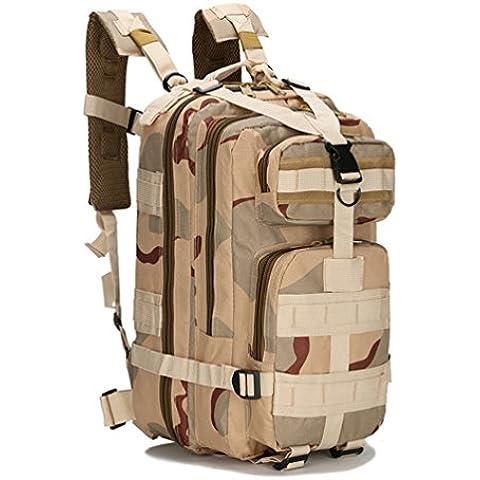 HMILYDYK Sport Outdoor Oxford Militare Tattico MOLLE Zaino da Campeggio e Trekking - Oversize Gear Bag