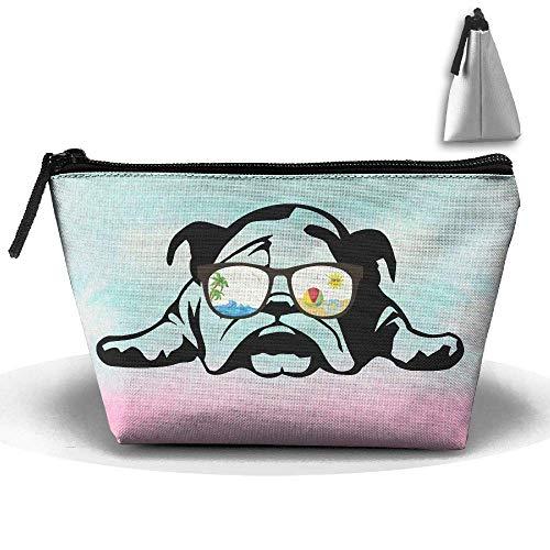 Bulldog Sonnenbrille Modus Stift Schreibwaren Federmäppchen Kosmetik Make-up Tasche Beutel