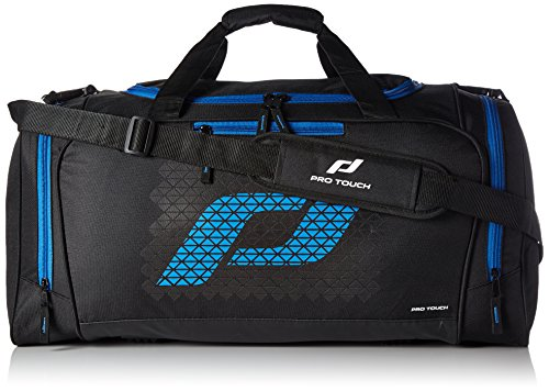 Pro Touch Uni Teambag Force M Sporttasche, Schwarz/Blau, 60 x 32 x 33 cm