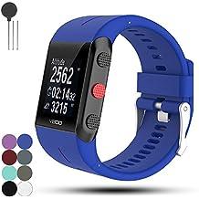 Für POLAR Trainingcomputer V800 GPS Sport Ersatz Uhrarmband Gurt - iFeeker Weich Silikon Metall Schließe Uhr Gürtelschnalle Armband für Polar V800 GPS Sportuhr mit Tools
