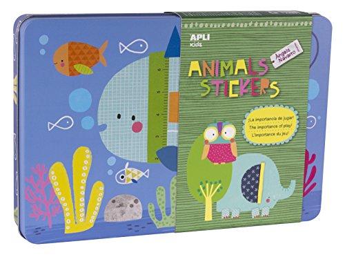 apli-apli14827-animal-house-sticker-gioco-in-scatola-di-latta