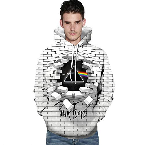 FZ FUTURE Pink Floyd Impreso 3D Hoodie Impresión Sudadera, Sudadera del Bolsillo Sweatshirt Outfits, Hombres Mujer Niño Niña Teen,XXL