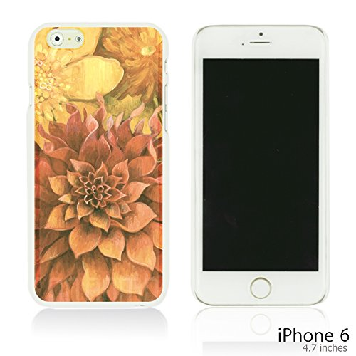 OBiDi - Flower Paintings Hardback Case / Housse pour Apple iPhone 6 / 6S (4.7 inch)Smartphone - Colorful Flowers With Birds Red Dahlia
