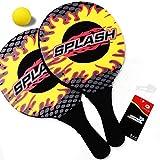 Win.Max Strandtennis Set, Strand Tennis, Beach Tennis Ball, Funsports Neopren Strand für Die Ganze Familie, Hochwertige Beachball-Schläger, Splash Design, 2 Beachball Schläger und 1 Ball