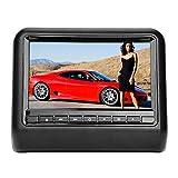 Aramox Lecteur DVD de voiture, appui-tête universel 1 pouce Lecteur de DVD vidéo pour moniteur de voiture numérique USB 12V