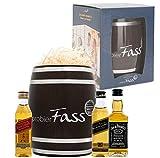 probierFass Whisky Geschenkset | 3 Whisky Klassiker (3 x 0.05 l) verpackt in einem originellen Fass | Johnnie Walker Red Label - Johnnie Walker Black Label - Jack Daniel´s