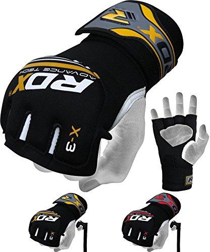 RDX Herren Gel MMA UFC Handschuhe Kampfsport Sandsackhandschuhe Sparring Grappling Trainingshandschuhe, gelb-Schwarz, S/M (Ufc Gel Wrap)