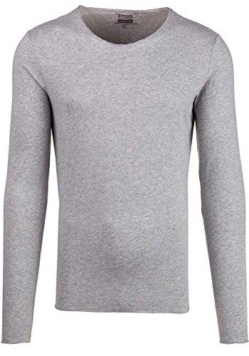 BOLF STEGOL Herren Longsleeve Langarm Shirt Slim Fit Pullover Sweatshirt 1A1 Mix Grau_546