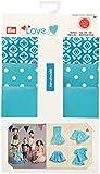 Prym Love 931702 Stoffmix aus Baumwolle und Jersey für Kleid, Rock oder T-Shirt, blau