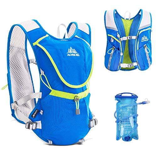 TRIWONDER Trinkrucksack-Rucksack-Fachmann 8L draußen Mochilas-Pfad-Marathonläufer-laufende Rennen-Radfahrenhydratations-Weste (Blau - mit 1.5L Wasserblase)