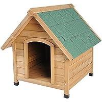 Woltu HT2022 Cuccia per Cani Conigli Gabbia Casa Animali in Legno Abete Impermeabile Esterno Giardino 72x76x76cm