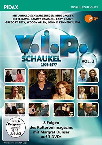 V.I.P.-Schaukel, Vol. 3 (1976 - 1977) / Weitere 8 Folgen des Kultpromimagazins mit Margret Dünser (Pidax Doku-Highlights) [3 DVDs] A/v Tv