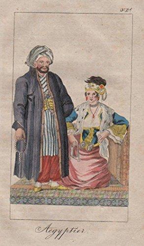 Ägypten Egypt Einwohner Tracht costumes Africa engraving ()