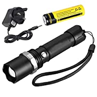 Military Tactical Police Grade 5000LM Heavy Duty 3W LED Rechargeable Flashlight