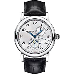 Montblanc Star Twin Moonphase Automatic Silver Dial Mens Watch 110642