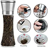 Zurato Premium Stainless Steel Salt and Pepper Grinder Tall Salt and Pepper Mill Shakers with Adjustable Coarseness (Pack of 1)