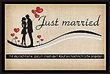 crealuxe Fussmatte Just married - (mit Wunschname und Datum)- 5 -