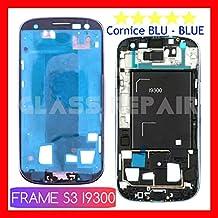Frame Bastidor delantero alloggio pantalla pantalla LCD con borde marco azul Blue para Samsung Galaxy S3Gt- i9300